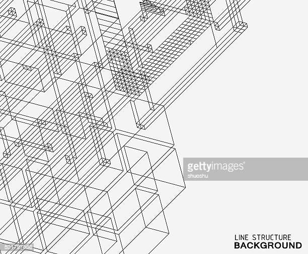 Motif d'arrière-plan de la ligne abstraite de la structure