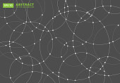 Abstract lines circles round Overlap . concept for your design, Vector Illustration Background
