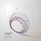 Abstract swirls, vector illustration
