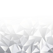 Mosaic  design template. Modern white graphic.