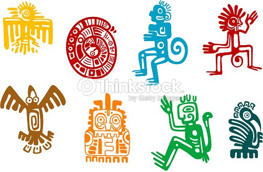 Abstract Maya And Aztec Art Symbols Vector Art Thinkstock