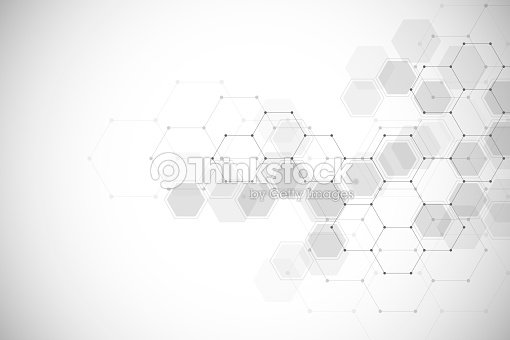 Abstract medical background with molecules structure : stock vector