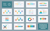 Abstract Medical Sciences infographics presentation set with icon in white color background