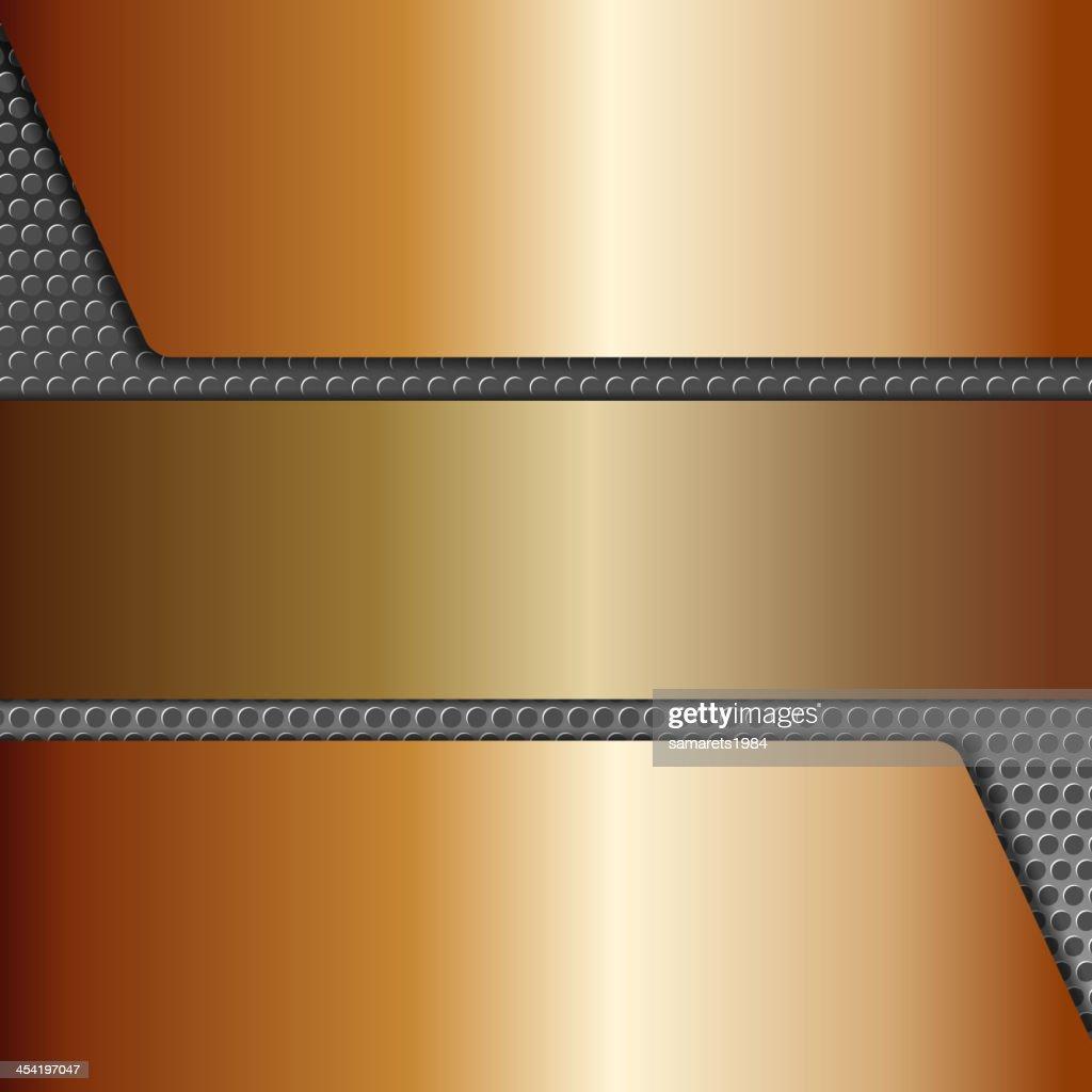Abstrakte metallischen Hintergrund, realistische design-Elemente : Vektorgrafik