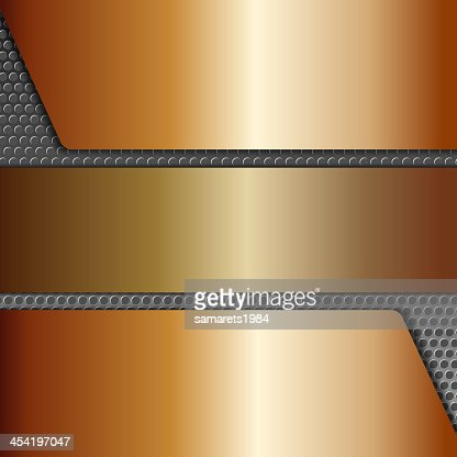 Abstract metallic background, realistic design elements : Vector Art