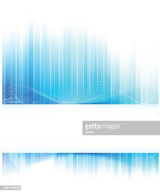 Abstract modern background of a fragmented blue wave