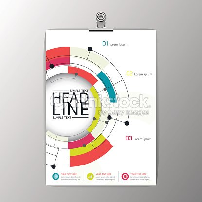 A4 Abstract Modern Circle Design Brochure Template Layout Vector