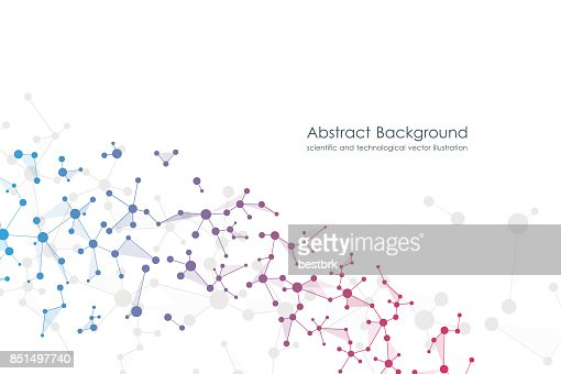 Abstract molecule background, genetic and chemical compounds, medical, technology or scientific concept vector illustration : Arte vettoriale