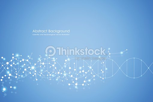 Abstract molecule background, genetic and chemical compounds, medical, technology or scientific concept vector illustration : stock vector