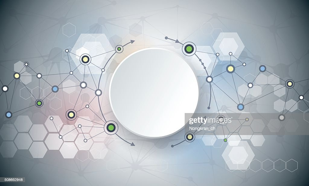 Abstract molecules and connection background : Vector Art