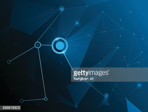 Abstract Molecules technology background. : Vector Art