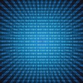 abstract mystic binary code digits blue lines background eps10