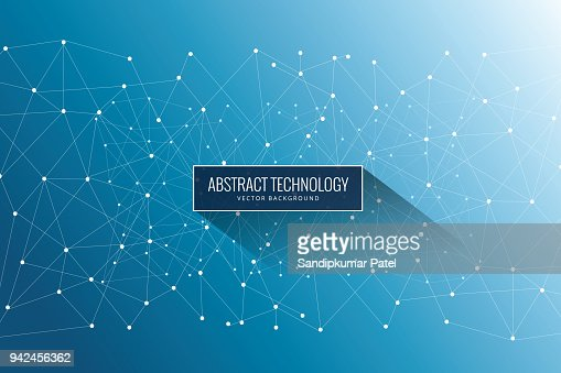 Abstract Network Background : Vector Art