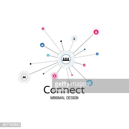 Abstract network connection. icon icon,  design. Vector Illustration : stock vector