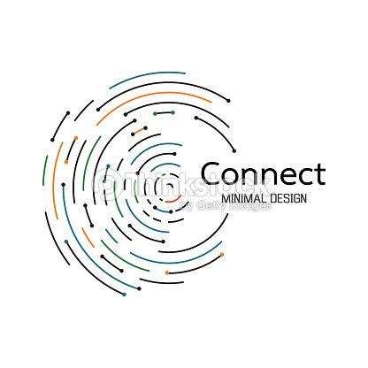 Abstract network connection. icon logo design. Vector Illustration : stock vector