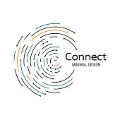 Abstract network connection. icon logo design. Vector Illustration
