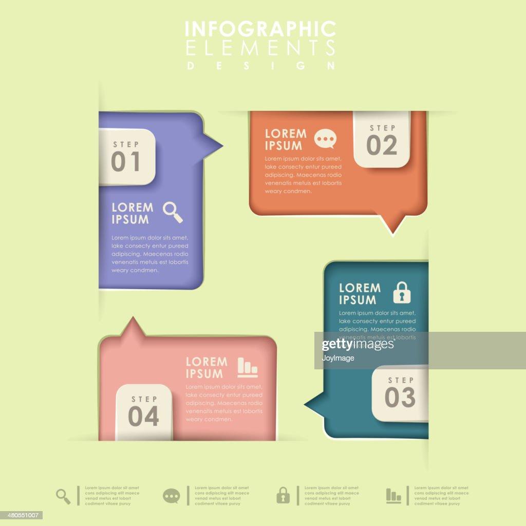Abstrato opção infographics : Arte vetorial