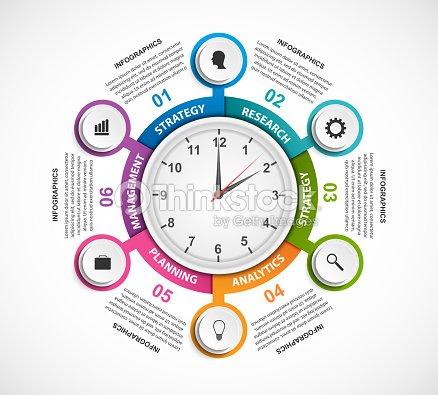 43b4d282769f2 Plantilla de infografía Resumen opciones. Infografía para presentaciones de  negocios o cartel de información.