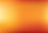 Abstract orange and yellow mesh gradient with curve lines pattern textured background, Vector illustration