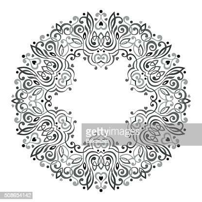 Abstract Ornate Mandala. Decorative frame for design : Vector Art