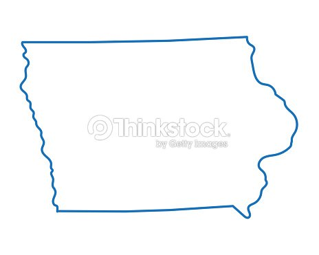 Abstract Outline Of Iowa Map Vrgrafik - Thinkstock on