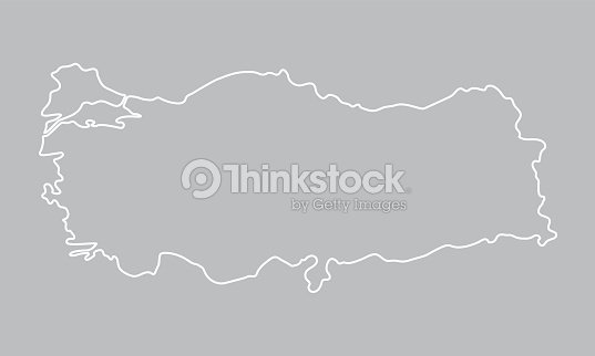 Abstract Outline Of Turkey Map Vector Art | Thinkstock