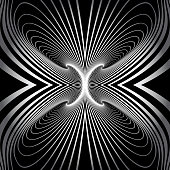 Abstract pattern. 3D illusion. Lines texture. Vector art.
