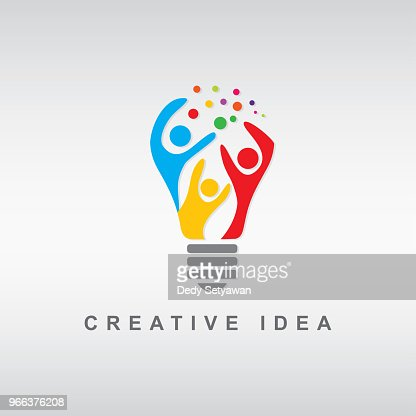 abstract people bulb : Vector Art