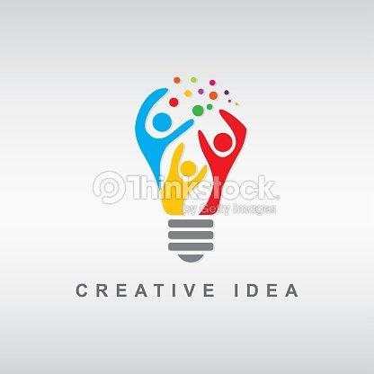抽象的な人々 電球 : ベクトルアート