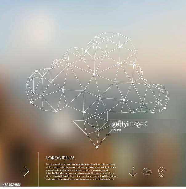 Abstract polygonal cloud concept