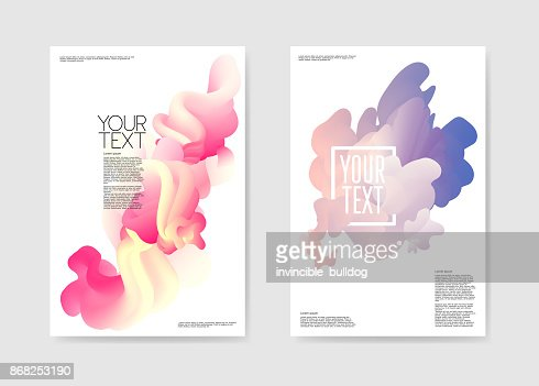 Abstract Poster Liquid Background. Fluid Shapes Brochure Template. Banner Identity Card Cover Design. Vector illustration : stock vector