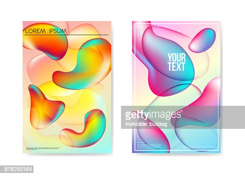 Abstract Poster Liquid Bubble Background. Fluid Bright Gradient Shapes Brochure Template. Banner Identity Card Design Placard. Vector illustration : stock vector