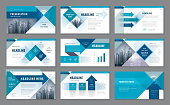Abstract Presentation Templates, Infographic elements Template design set for Brochures, flyer, leaflet, magazine, Geometric Arrow Background vector, Forward target business concept