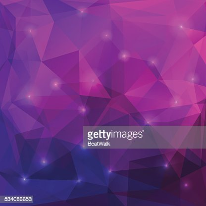 Abstract purple triangles background : Vector Art