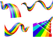 Illustration of Abstract rainbow collection