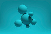 Abstract realistic 3d spheres structure background. Vector illustration