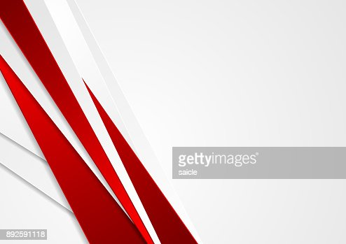 Abstract red and grey stripes corporate background : stock vector