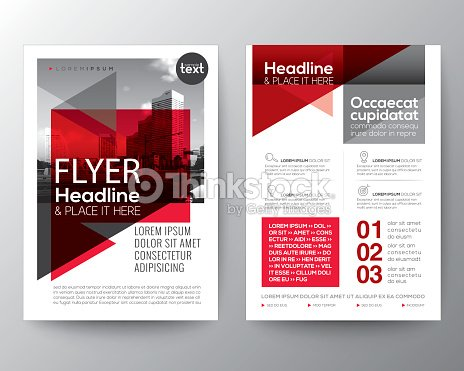 abstract red background for poster brochure flyer design layout