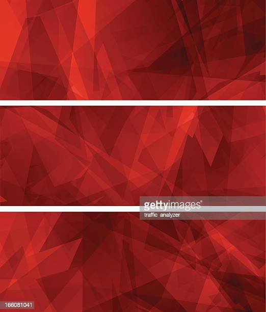 Abstract red banners