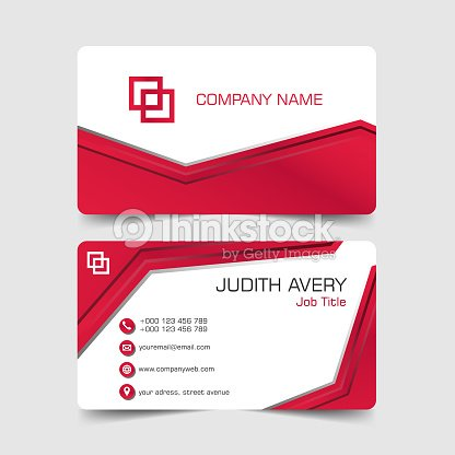 Abstract red business card vector art thinkstock abstract red business card vector art reheart Images