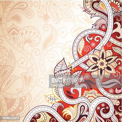 Fundo Floral abstrato vermelho : Arte vetorial