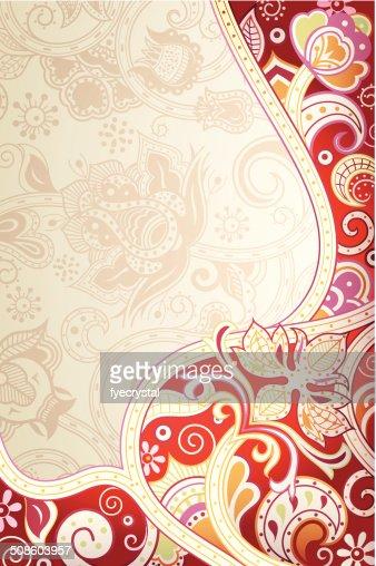 Floral abstrato vermelho : Arte vetorial