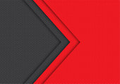 Abstract red grey arrow hexagon mesh pattern direction design modern futuristic background vector illustration.