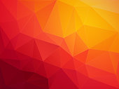 modern style abstract red orange polygonal vector background
