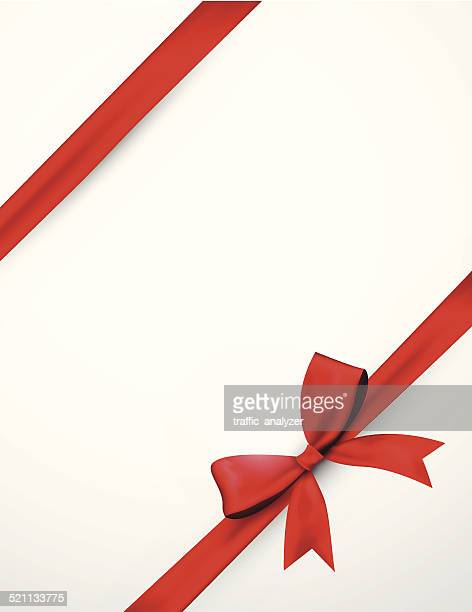 Abstract red ribbon