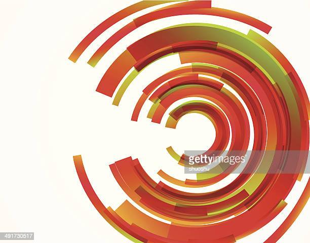 abstract red ring pattern background