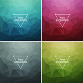 Set of color Vector Abstract retro triangle  background