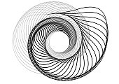 Abstract round spiral template for the logo. Black blob to create banners.