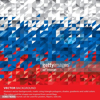 Abstract Russian Flag, Russia Background (Vector Art) : Vectorkunst