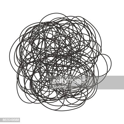 Abstract scribble chaos pattern : stock vector